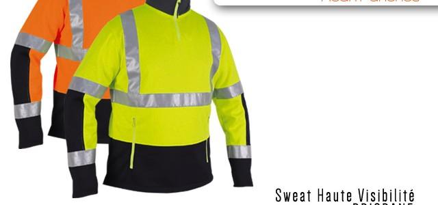 Sweat haute visibilité Brisbane Fluo classe 2 ISO 20471